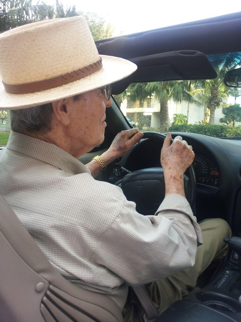 Joe driving